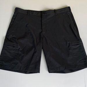 Nike Golf Dri Fit Flat Front Cargo Shorts Black 36